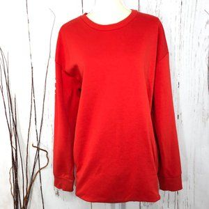 5x25🎁🎁🎁H&M OVERSIZE PULLOVER RED SWEATER SIZE L